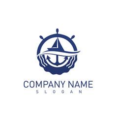marine concept logo vector image