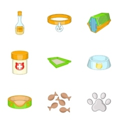 Pet veterinary clinic icons set cartoon style vector image vector image