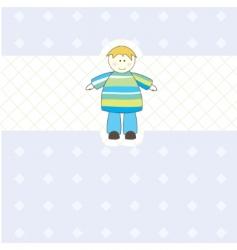 baby boy arrival card illustration vector image