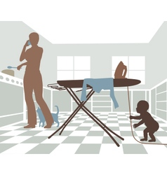 Domestic danger vector image vector image