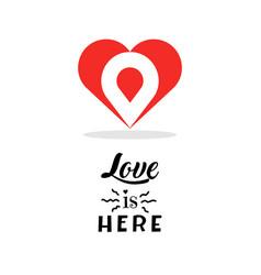 heart logo design template creative symbol vector image