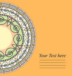 templates with geometrical pattern for your cards vector image