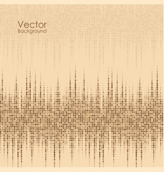 Abstract background with brown and yellow dots vector