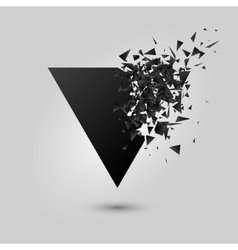 Abstract black explosion Geometric background vector