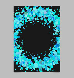 Abstract blank confetti wreath page background vector