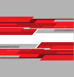 abstract red grey geometric cyber futuristic style vector image