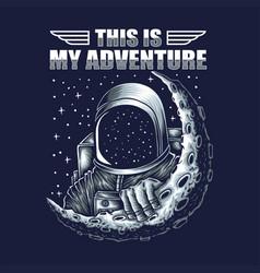 Adventure astronaut vector