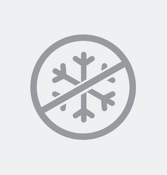 Air conditioning prohibited icon vector