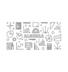 Algebra horizontal banner vector