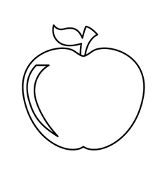 Apple fruit isolated icon design vector