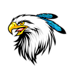 Bald eagle mascot cartoon animal sport mascot vector