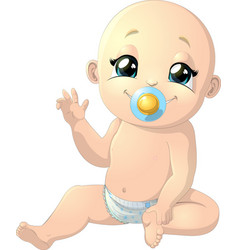 Beautiful cute baby vector
