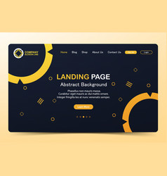 Beautiful landing page abstract background website vector
