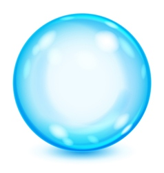 Big blue opaque glass sphere vector image
