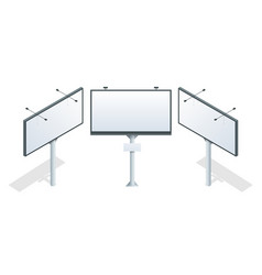 billboard isometric different perspectives vector image