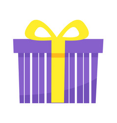 birthday present in box with ribbon gift vector image