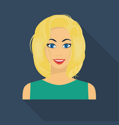 Blonde icon in flate style isolated on white vector
