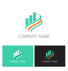 business finance progress loop logo vector image