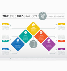 business presentation concept with five options vector image vector image