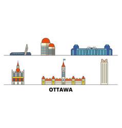 canada ottawa flat landmarks vector image