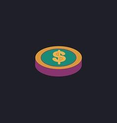 Casino chip computer symbol vector image