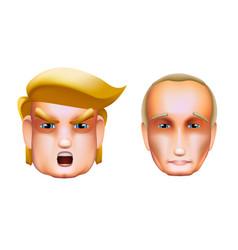 Character portrait icon of donald trump vector