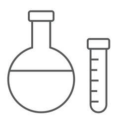 chemistry thin line icon school and education vector image