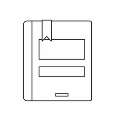 Closed book icon outline style vector image