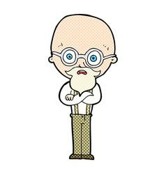 comic cartoon annoyed old man vector image