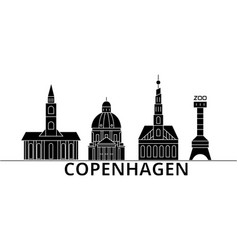 Copenhagen architecture city skyline vector