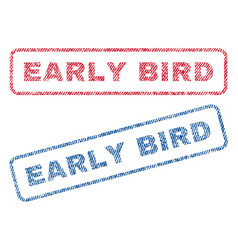 early bird textile stamps vector image