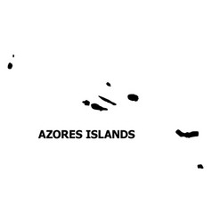 Flat map azores islands with caption vector