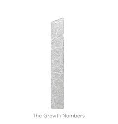 Generative branch growth number 1 lichen vector