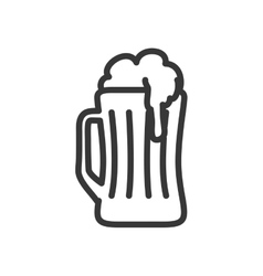 glass beer drink beverage alcohol icon vector image