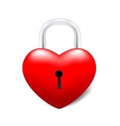 Grossy locked heart vector