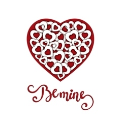 Hand sketched Be Mine text as Valentine s Day vector
