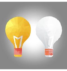 idea creative in polygon design vector image