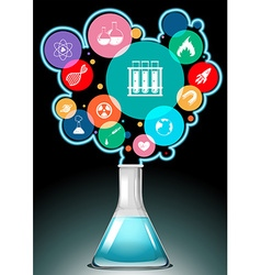 Infographic with science symbols vector image