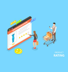 isometric flat concept product rating vector image