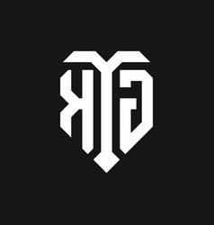Kg logo monogram design template vector
