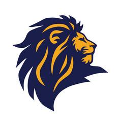 Lion head logo icon mascot design vector