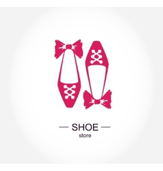Logo shoe store shop fashion collection boutique vector image
