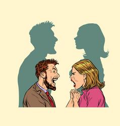 man and woman conflict quarrel concept vector image