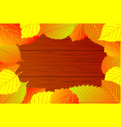 Mixture of autumn leaves vector