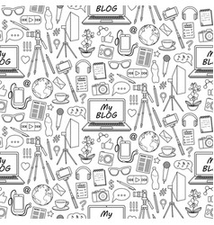 my blog seamless pattern vector image
