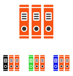 Office books flat icon vector