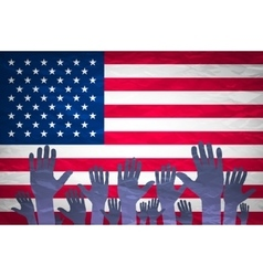 Open hand raised multi purpose concept USA vector image