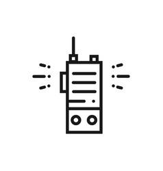 portable radio line icon radio set sign and vector image