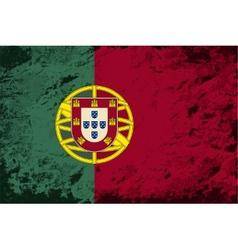 Portuguese flag Grunge background vector
