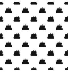 purse retro pattern seamless vector image
